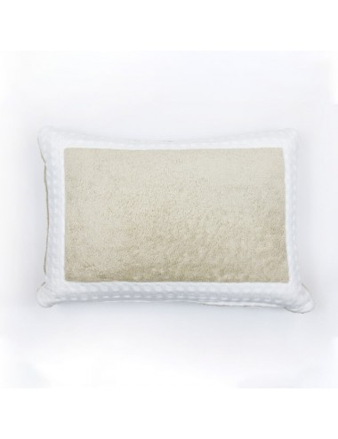 Sand-colored terry cloth...