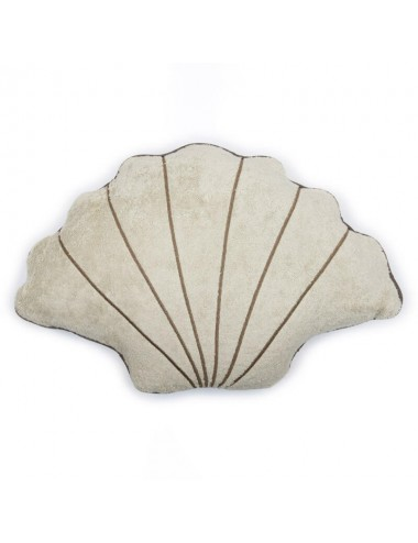 Shell-shaped sand-colored...