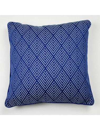 Blue outdoor cushion with...