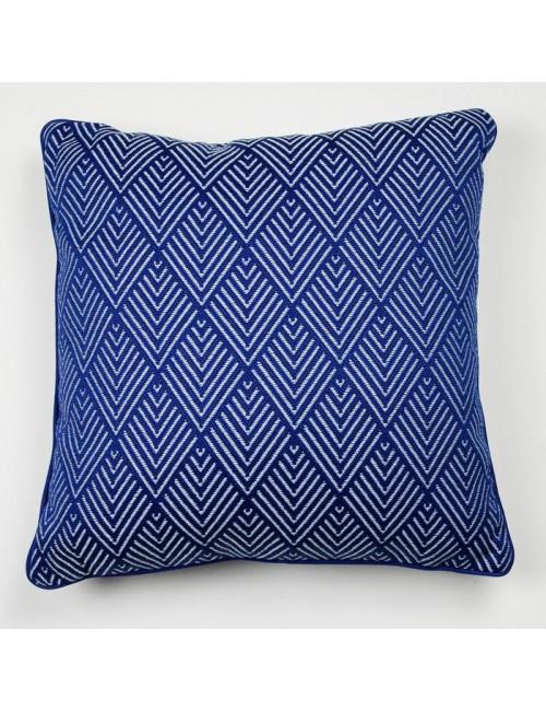 Cuscino da esterno blu con...