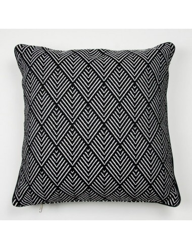 Black outdoor cushion with...