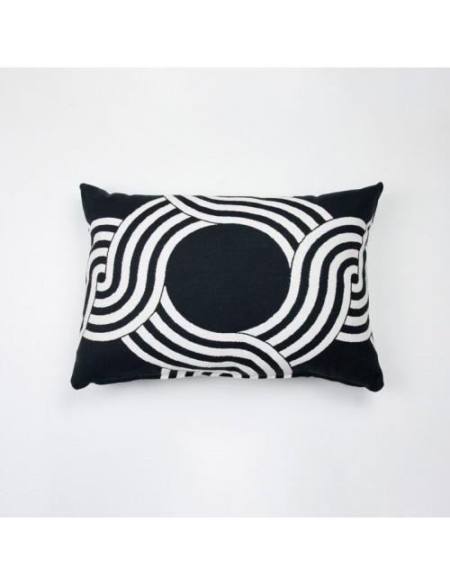 Cuscino da esterno nero con...