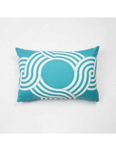 Aqua-green outdoor cushion...