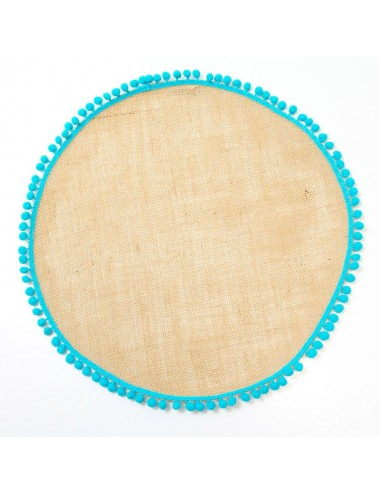 Set of 6 round placemats in...