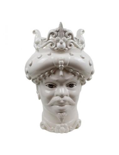 Glossy white male Moor's head