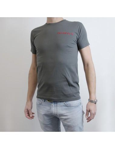 Set 4 t-shirt personalizzabili in puro cotone grigio