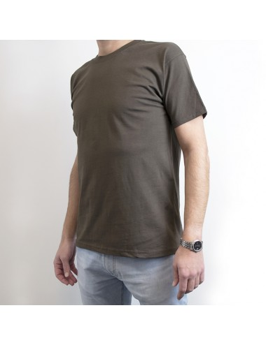Set of 4 customizable t-shirts in pure cotton brown