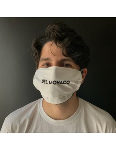 Mascherina personalizzabile in percalle bianco