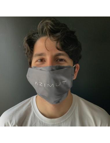 Mascherina personalizzabile in percalle grigio