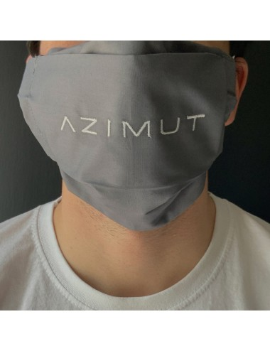 Customizable mask for adults in gray percale