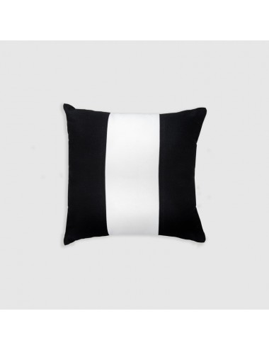 Sand-colored terry cloth cushion with gray coral